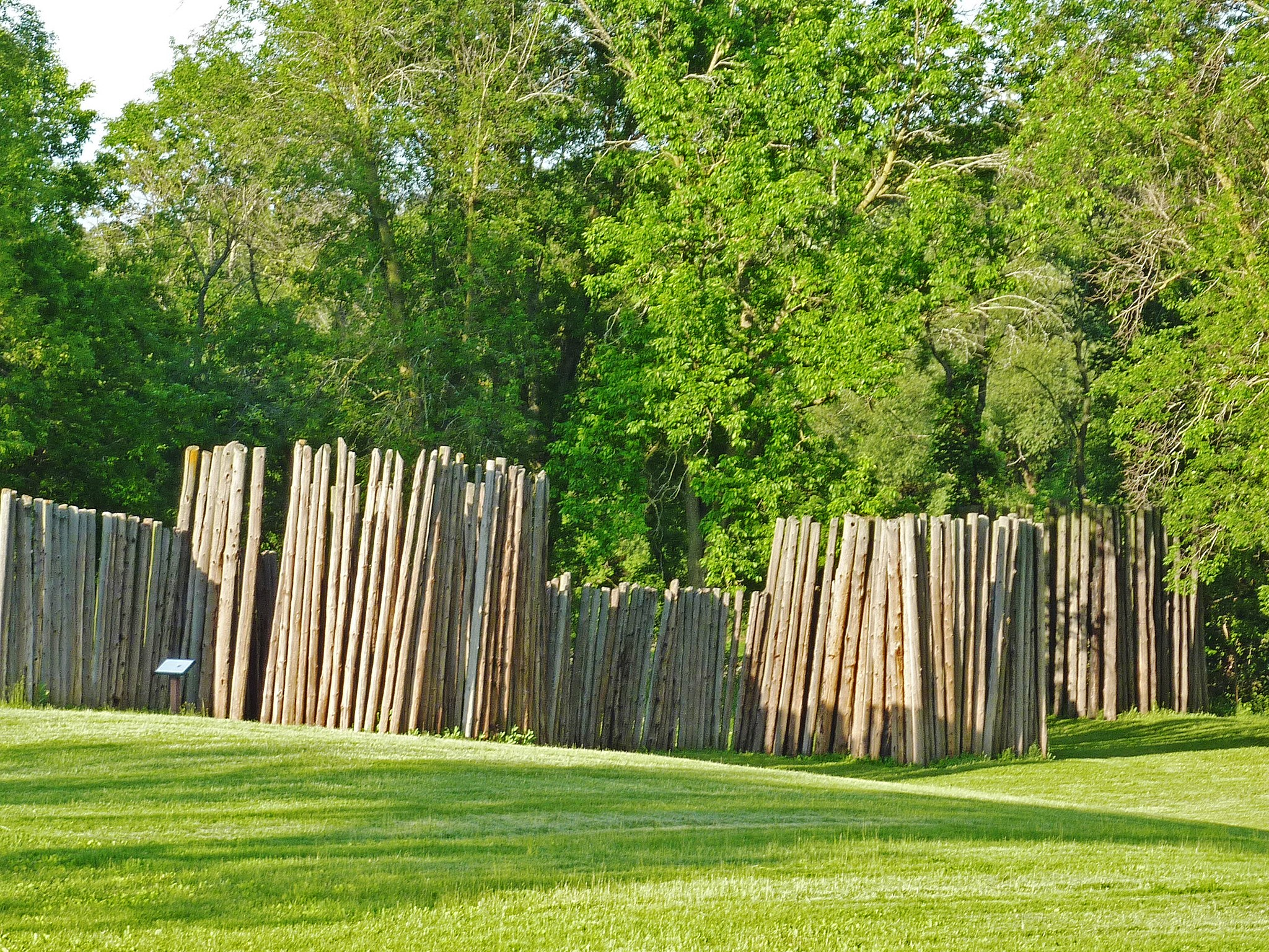 A wall created by posts in the earth at Aztalan